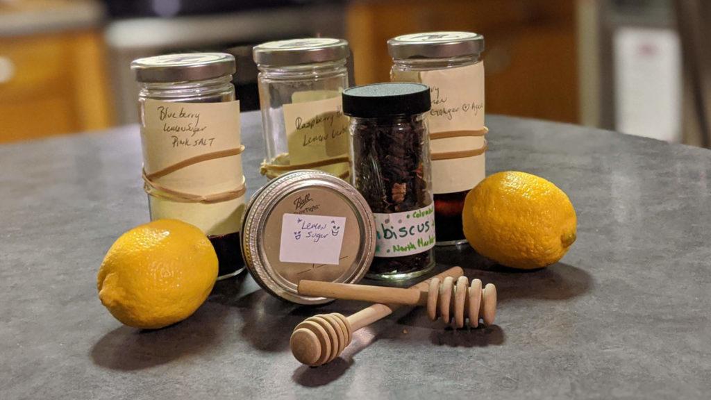 Jars of kombucha flavor examples