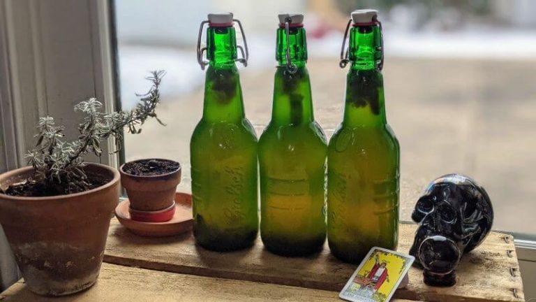 Kombucha bottle fill levels